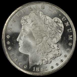1885-CC PCGS MS66+ MORGAN DOLLAR